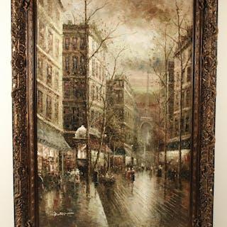 PALACIAL O/C PARIS STREET SCENE