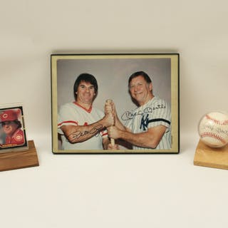 SIGNED MICKEY MANTLE AND PETE ROSE