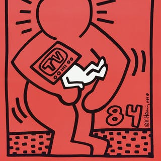 Keith Haring in Iowa City. 1984.