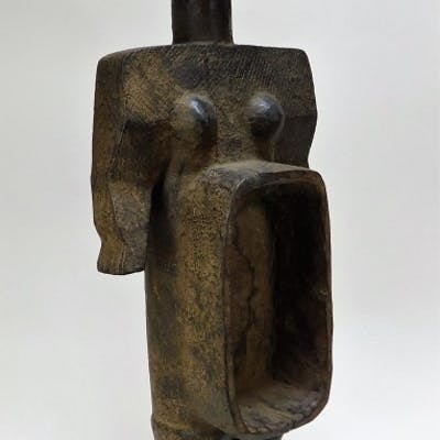 20C African Tribal Carved Wood Reliquary Statue
