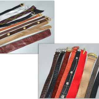 Group of vintage ladies desgner belts