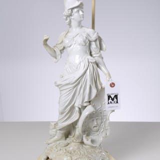 Large antique porcelain figure of Minerva