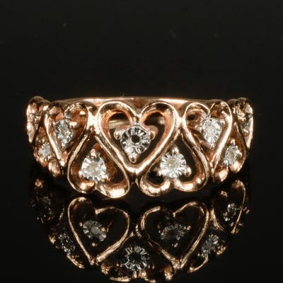 ROSE GOLD AND DIAMOND LADY'S RING