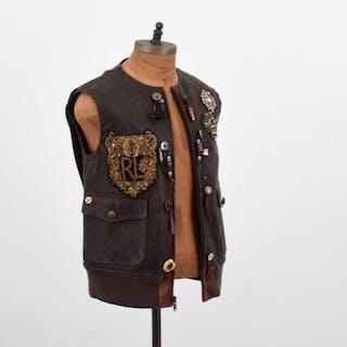 Ralph Lauren Purple Label Hamlin Leather Vest, Women's 8 - Ralph Lauren