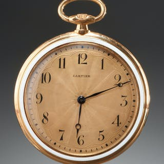 Cartier 18k yellow gold pocket watch