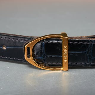 Hermes 24mm stirrup buckle reversible belt