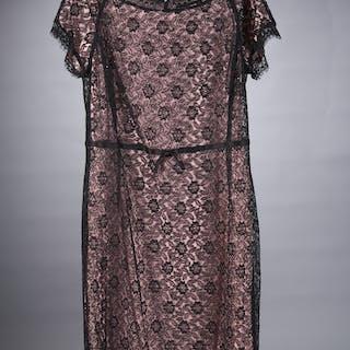 St. John black lace cocktail dress