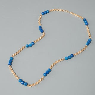 14k gold and bead necklace