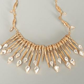 Hattie Carnegie costume jewelry choker necklace