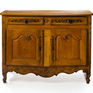 A French Provincial walnut buffet