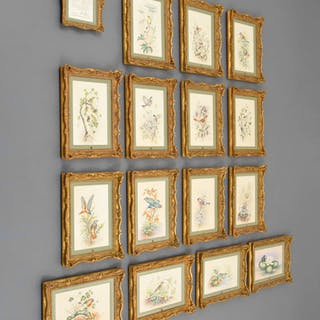 15 Royal Worcester British Bird Paintings, Complete Set - Edward Townsend;