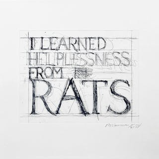 Bruce Nauman, I Learned Helplessness from Rats, 1988