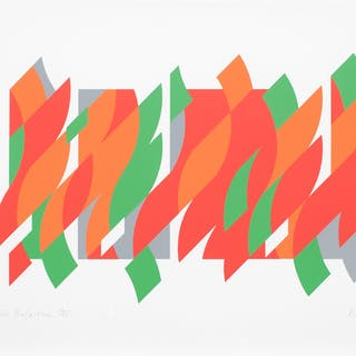 Bridget Riley, After Rajasthan, 2013