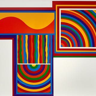Sol LeWitt, Arcs and Bands in Color, 1999
