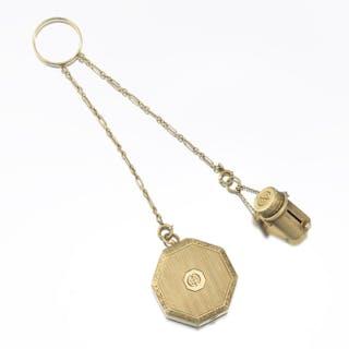 d2e0f161c Tiffany & Co. Art Deco 14k Gold Compact and Lipstick on Finger Ring –  Current sales – Barnebys.com