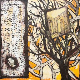 """ALICE HANSEN. Blandteknik, """"Memory from Paris"""", signerad a tergo, daterad 2009."""