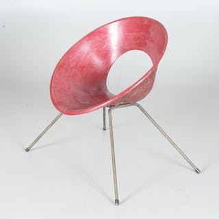 DONALD KNORR. Fåtölj, prototyp, Knoll International, 1950-tal.