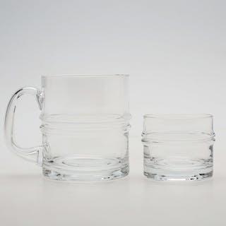 "GLASSERVISDELAR, 18 delar, ""Droppring"" Timo Sarpaneva, Iittala."