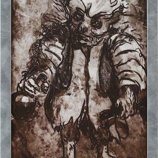 PETER DAHL. Fredmans epistel N:o 41, litografi, sign.