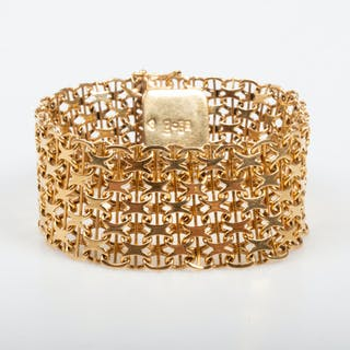 ARMBAND, x-länk,18K guld.