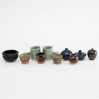 MINIATYRER, 10 st, keramik, bl a Rörstrand.