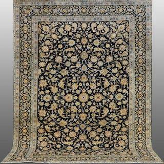 MATTA, persisk, blå keshan, 377 x 275 cm.