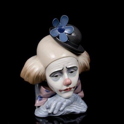 LLADRO, Clown, nr 5130, figurin, porslin, Spanien.