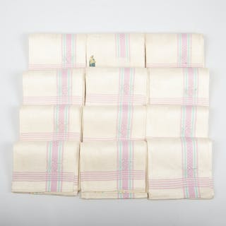 HANDDUKAR, 12 stycken, linne.
