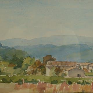 CARIN ADLER. Akvarell, signerad -88.