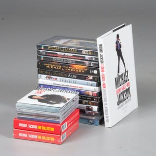 CD & DVD-skivor, 22 delar, Michael Jackson.