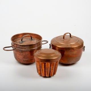 ALADÅBFORMAR, 3 stycken, koppar, 1800/1900-tal.