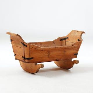 VAGGA, trä, troligen Österbotten Finland 17/1800-tal.