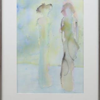VERA OHLSSON. Akvarell, signerad och daterad -88.