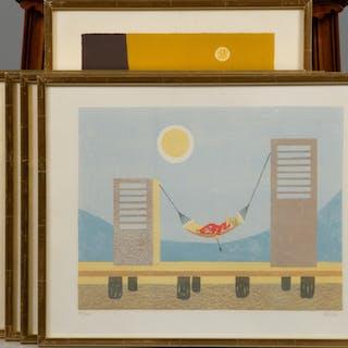 HALMSTADGRUPPEN, 6 stycken litografier, en av varje konstnär.