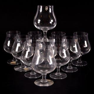 COCNACSKUPOR 11 st, glas, Orrefors.