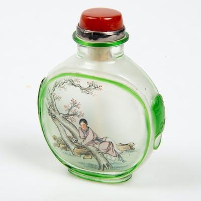 SNUSFLASKA, dekormålat glas, Kina.