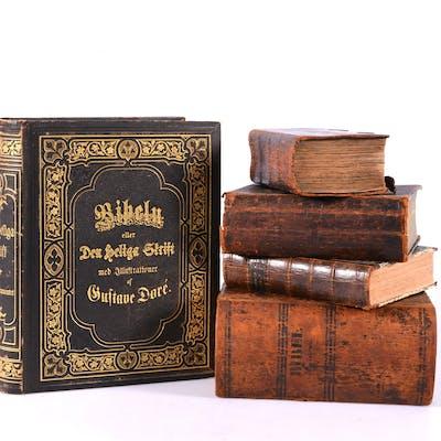 BIBLAR, 5 st, 18/1900-tal.