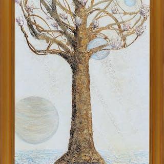 "HANS ALEXANDER GERLANIUS. ""One magnolia tree for my mother"", olja/blandteknik"