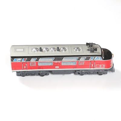 TÅG, batteri drivet Diesel-Lokomotiv, ASAHI, Made in Japan, 1900-talets
