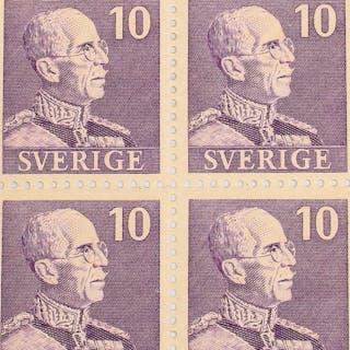 FRIMÄRKEN, 6 st, Sverige.