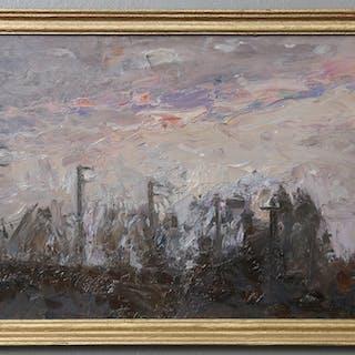 ALEXEJ IVANOV. Höstligt landskap, St Petersburg. Olja på duk, uppklistrad