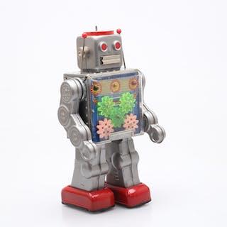 """PLÅTLEKSAK """"Gear Robot"""", Horikawa, Japan 1964."""