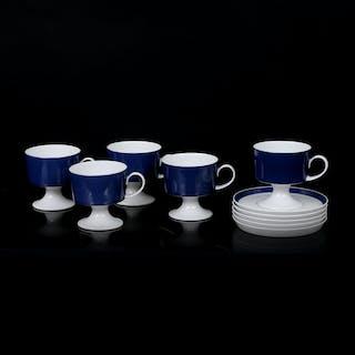 TAPIO WIRKKALA. Kaffeservis, 5 delar, för Rosenthal.
