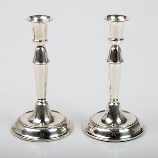 SVEND TOXVAERD. Ljusstakar, 1 par, silver, Danmark.