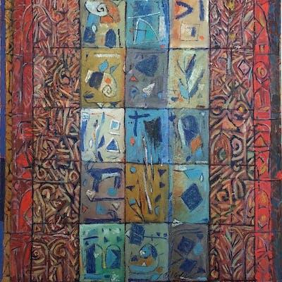 Abdullatif Al-Smoudi (Syrian, 1948-2005) oil painting