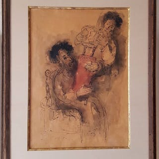 Reuven Rubin Judaica painting