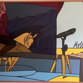 Valerio Adami (Italian, 1935 -) Italian Modern Pop Art Painting