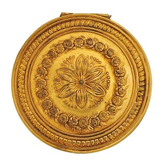 19TH C. GOLD-TONE PATCH BOX