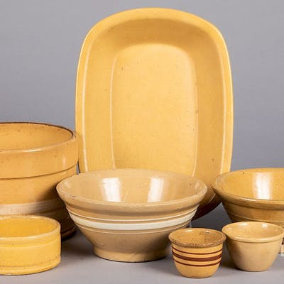 Group of yellowware.