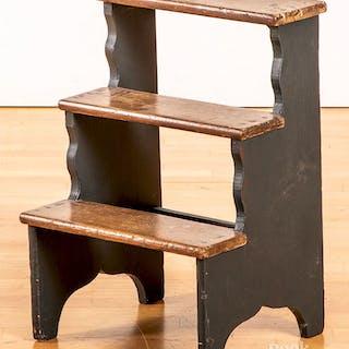 Painted pine step stool